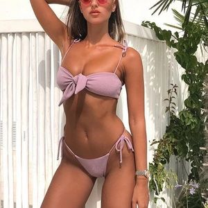 Sparkely pink/purple bikini